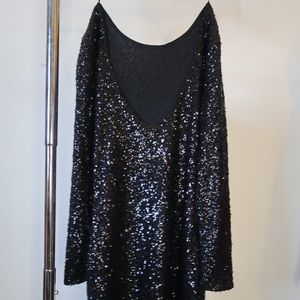 Black sequins mini dress
